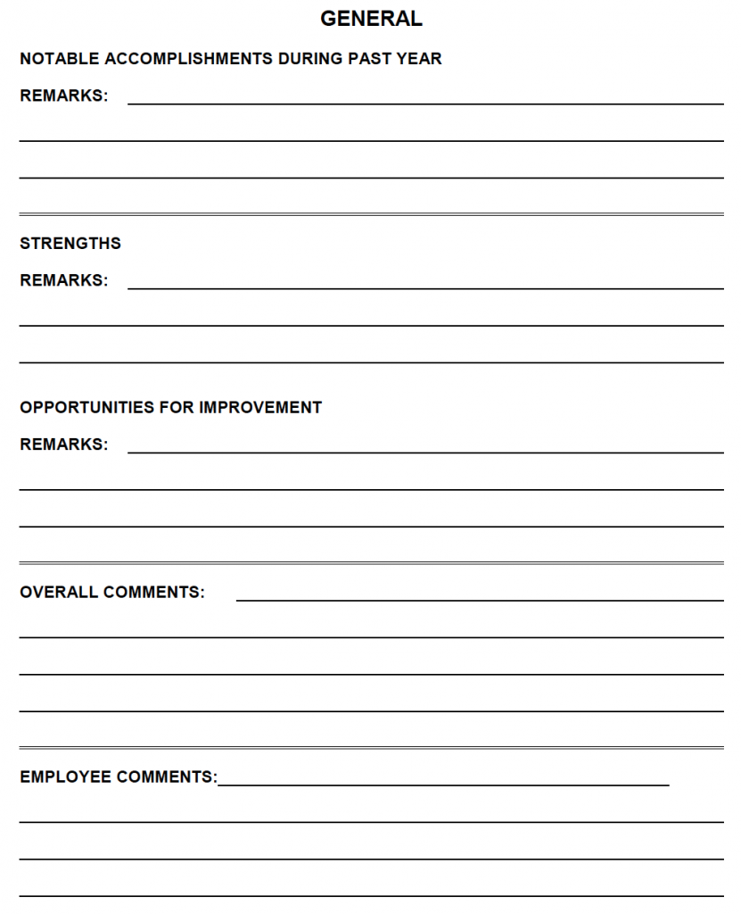 Performance Appraisal Forms The Good the Bad and the Ugly – Sample Appraisal Form
