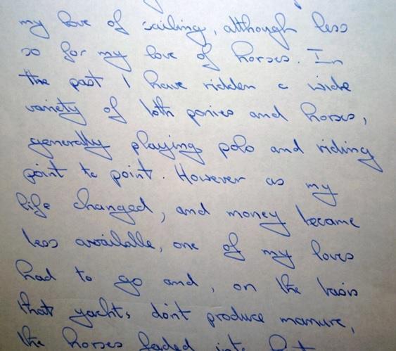 Case 1 - handwriting - Christina Strang