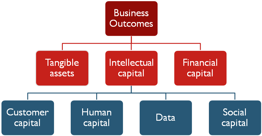 Fig 1: Desired business outcomes are the result of successful investment allocation and deployment of organisational resources
