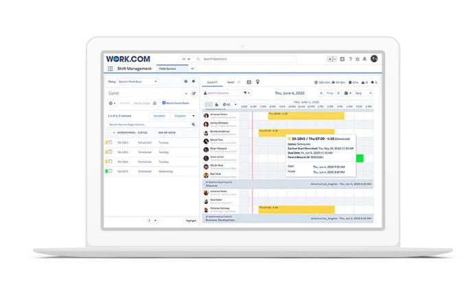 work.com example screen