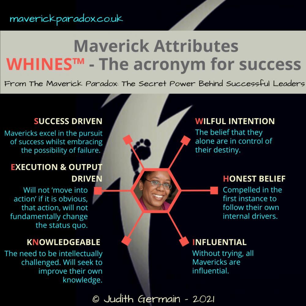 WHINES Acronym - Maverick Leader Attributes