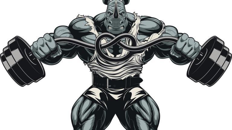 Muscled rhino