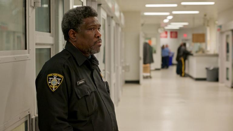 Prison officer at work