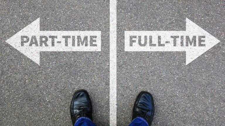 Part-time v full-time