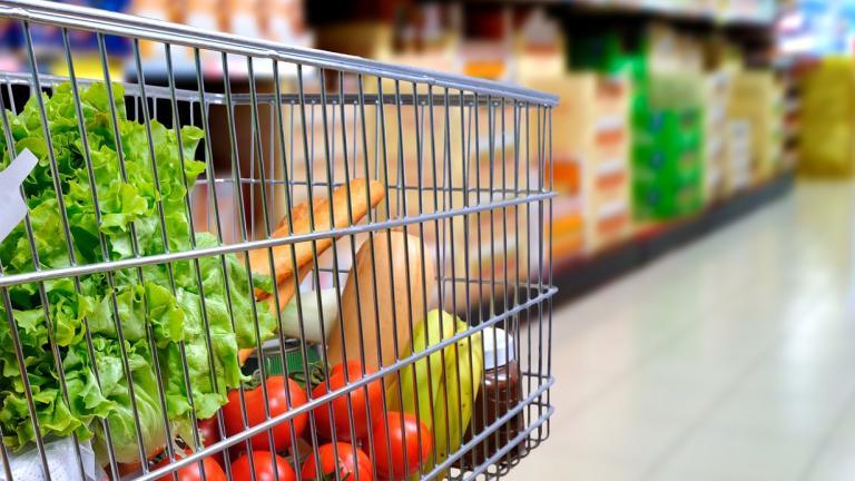Shopping in trolley