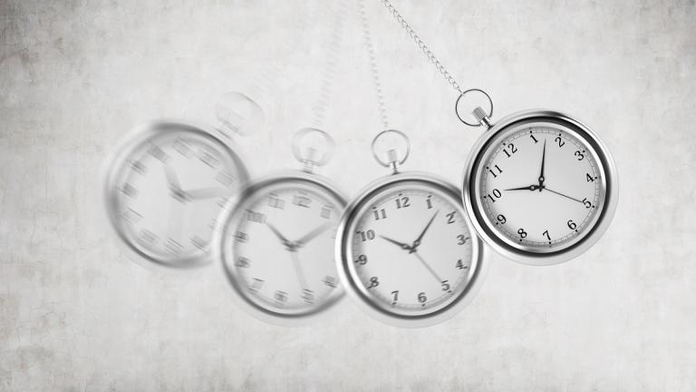 Pendulum clocks swinging