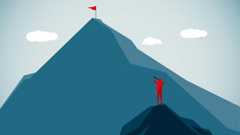 Mountain peak graphic