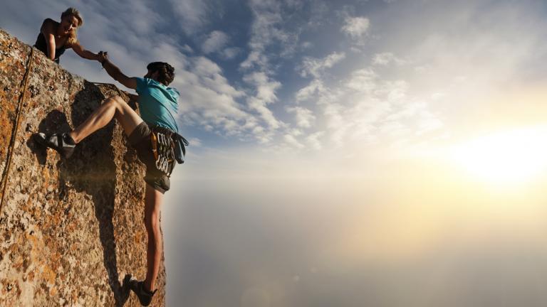 Rock climbers: trust