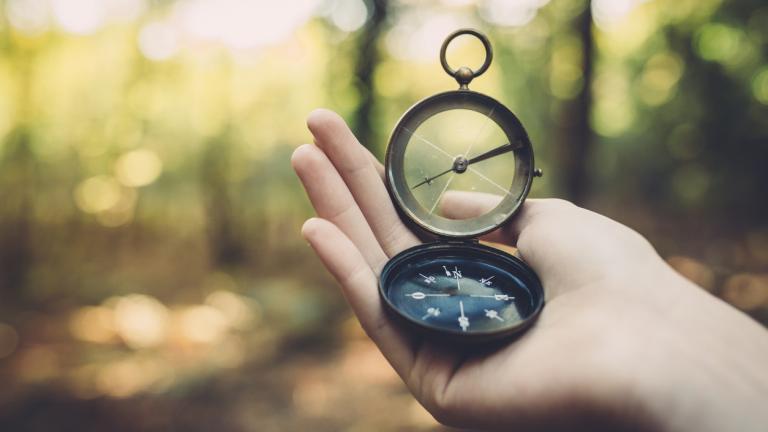Internal compass guides you