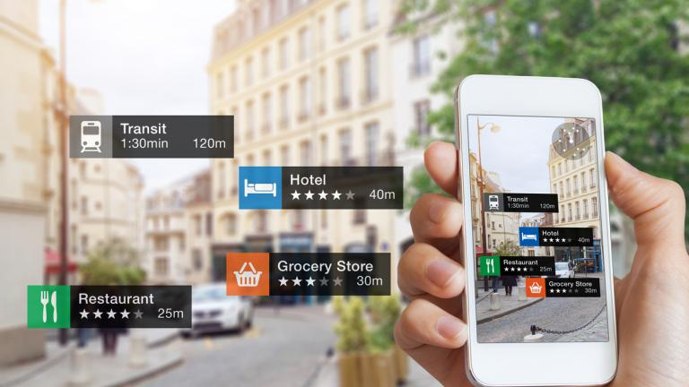 travel guide on smartphone
