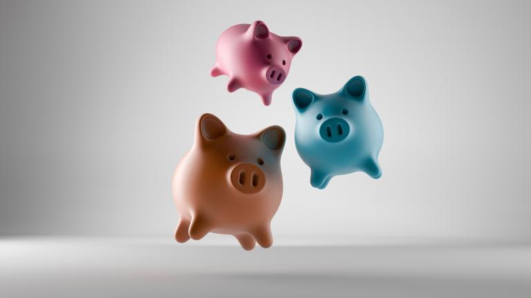 flying piggy banks