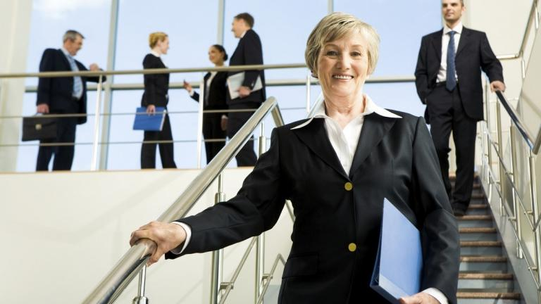 Senior executives smiling