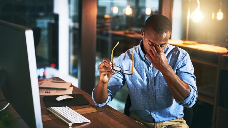 Employee suffering from innovation stress