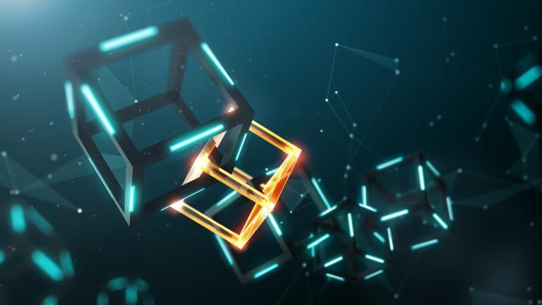 Blockchain technology graphic