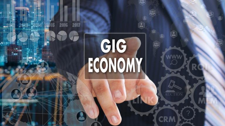 gig economy concept graphic