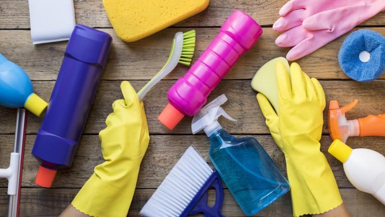 Spring clean preparation