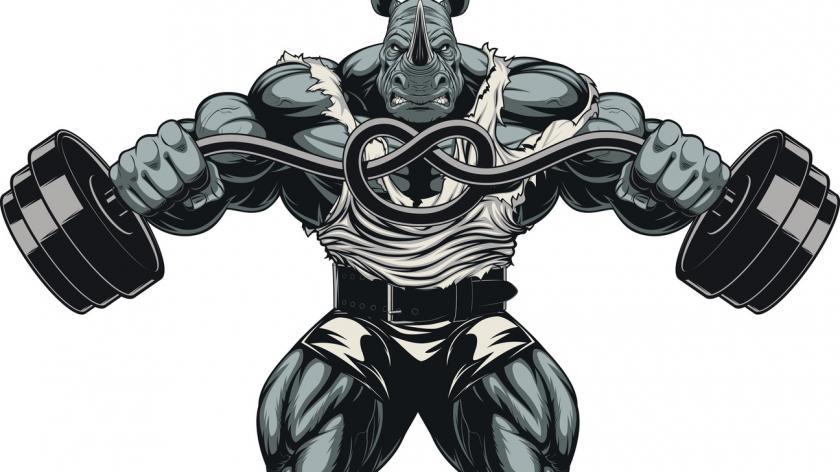Muscled rhino
