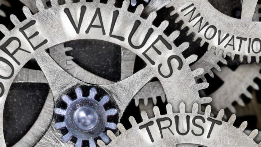 cogs concept - core values