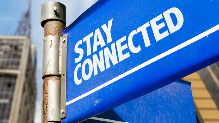 Stay connected sign