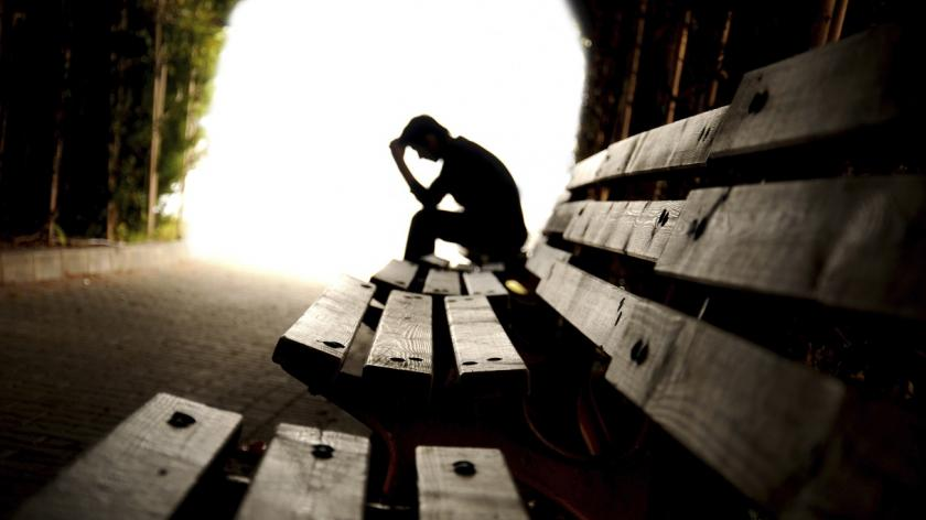 Grieving man