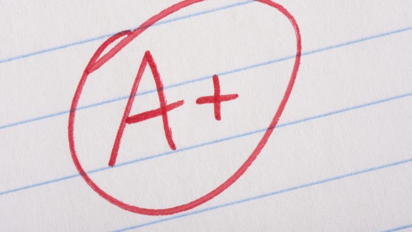 A+ in exams
