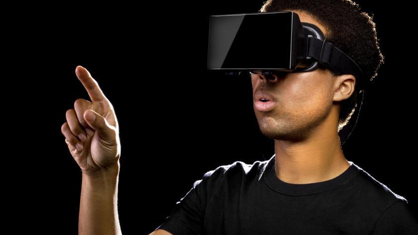 Man in VR mask