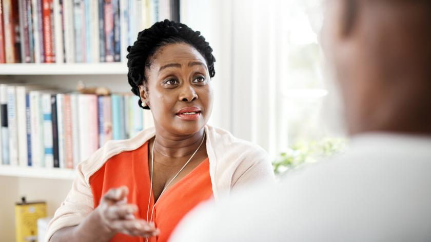 Employee having a difficult conversation