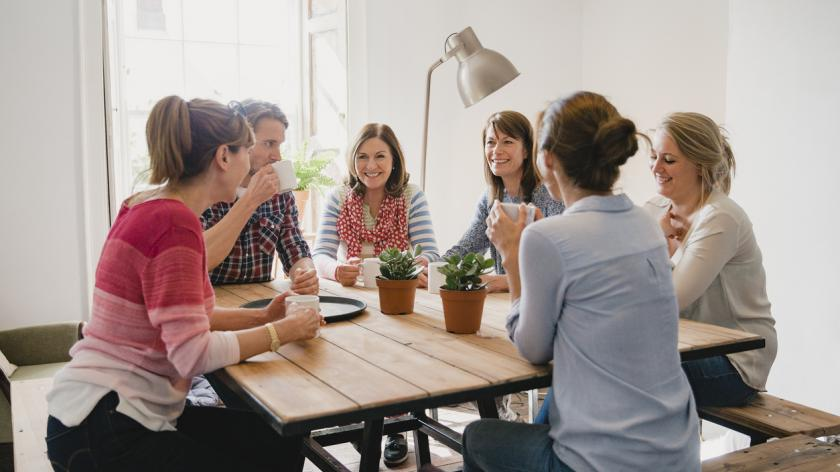 staff at a small business having a meeting