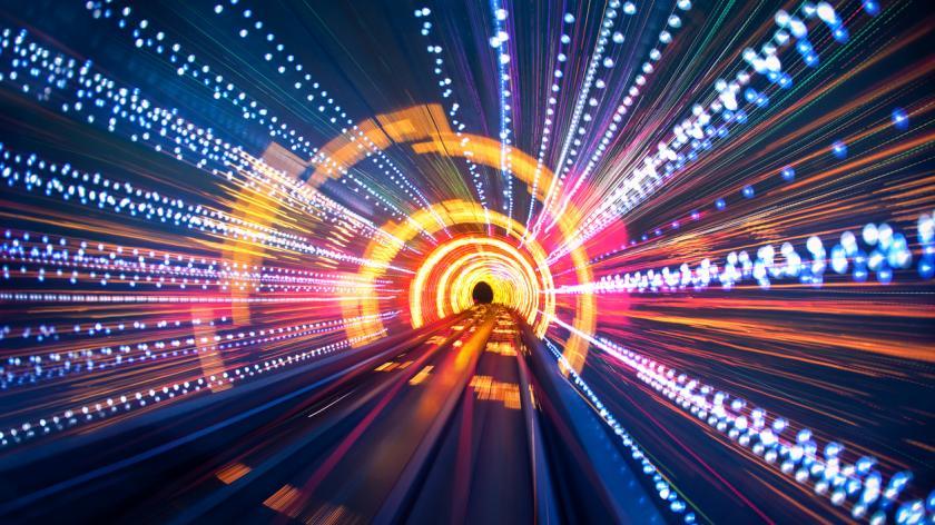 light tunnel speed photo