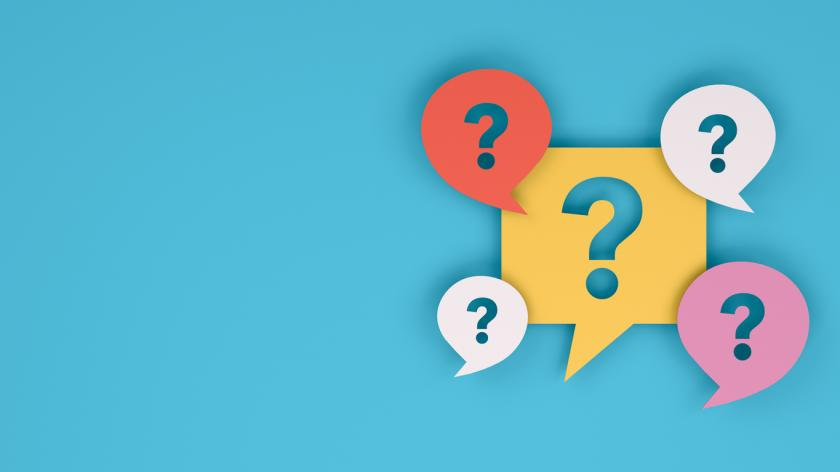 Question Mark on Speech Bubble graphic