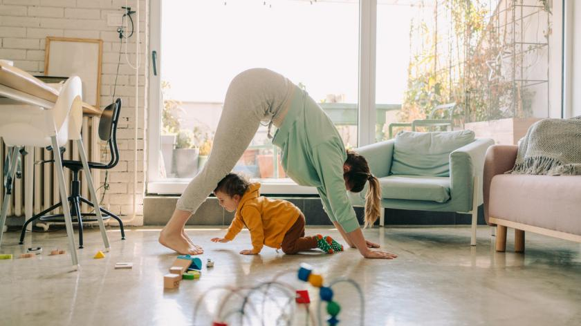 Mum and baby yoga