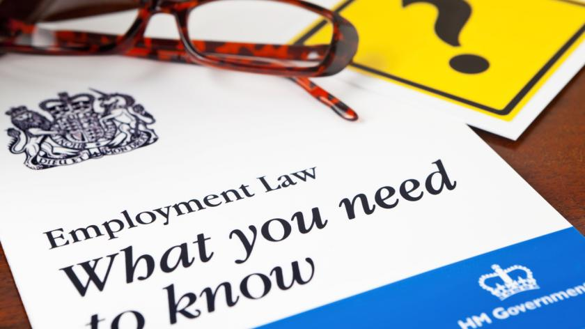 generic Employment Law leaflet, bearing the Royal Coat of Arms that appears on all UK legal statutes.