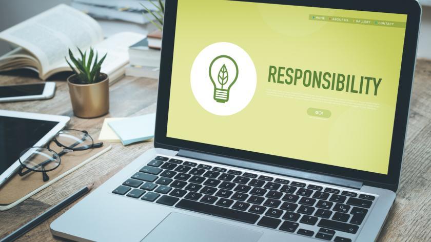 CSR concept image on a laptop