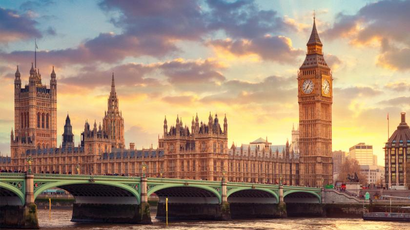 The Big Ben in London and the House of Parliament