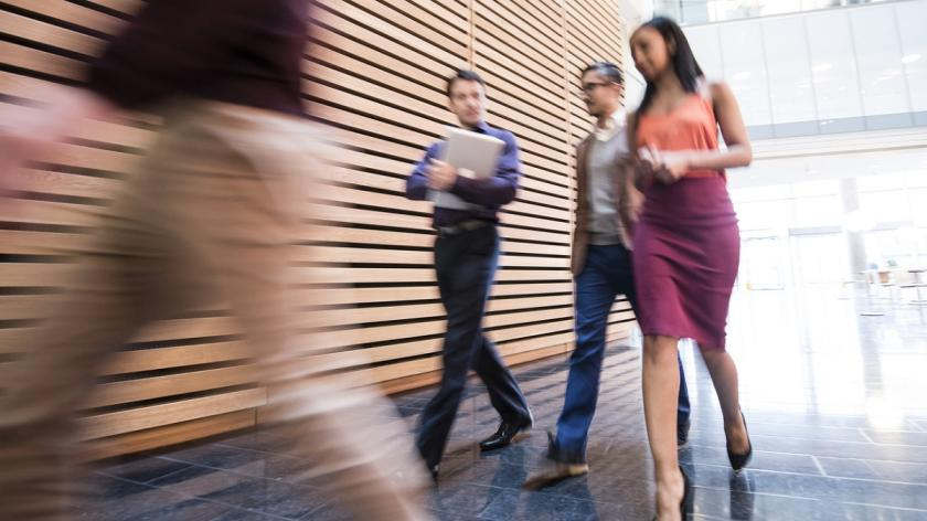 Fast workers blurred