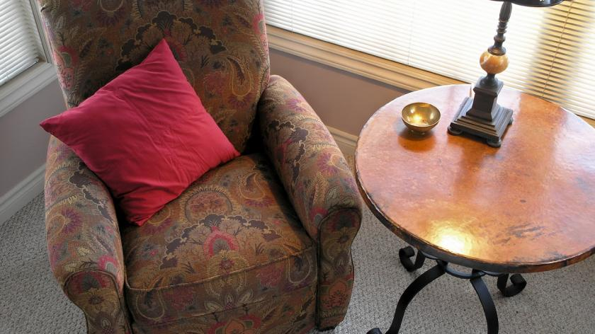 Comfy chair and table