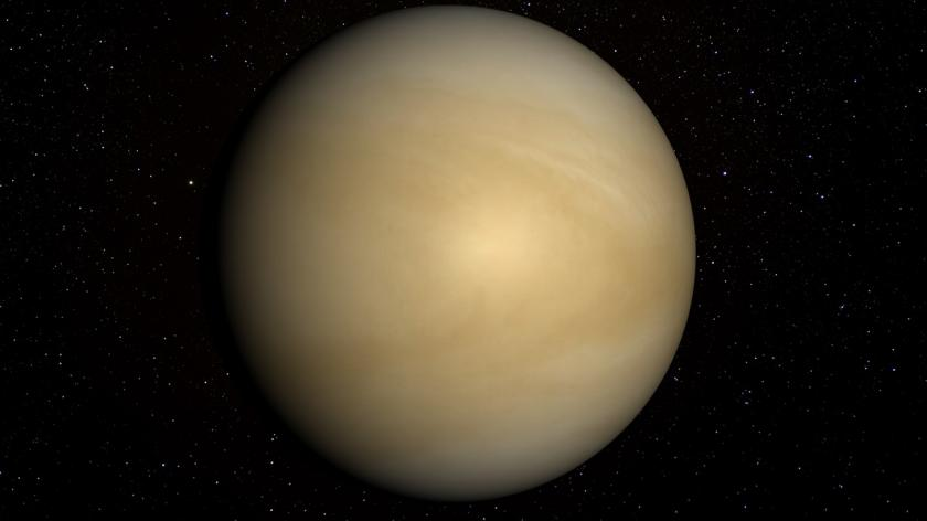 Venus with stars in the background