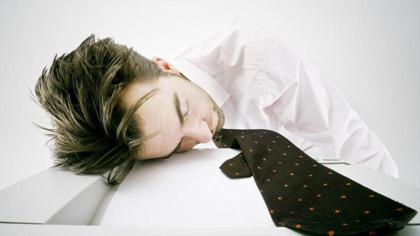 Sleep-deprived man