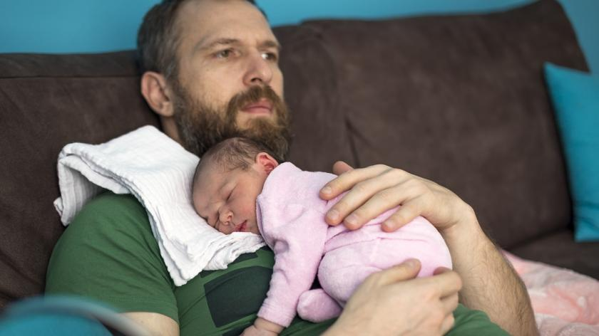 Newborn baby and Dad