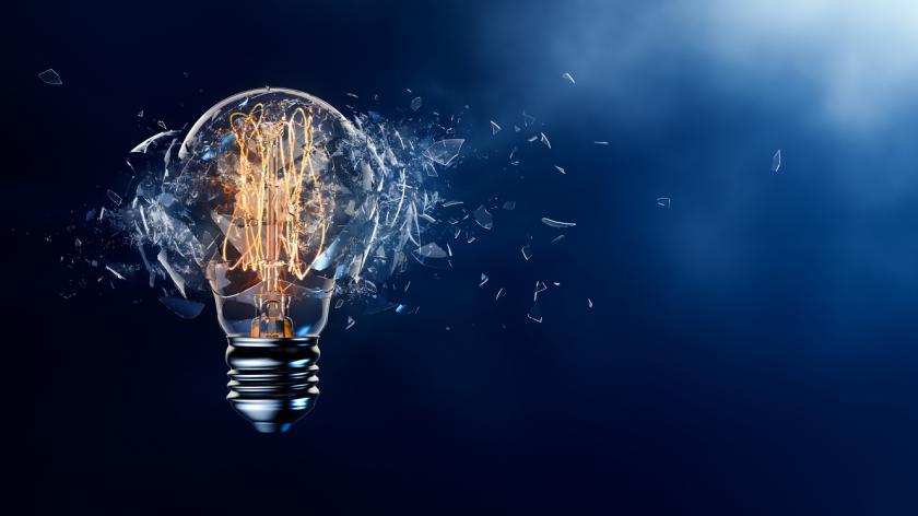 Exploding Light Bulb graphic