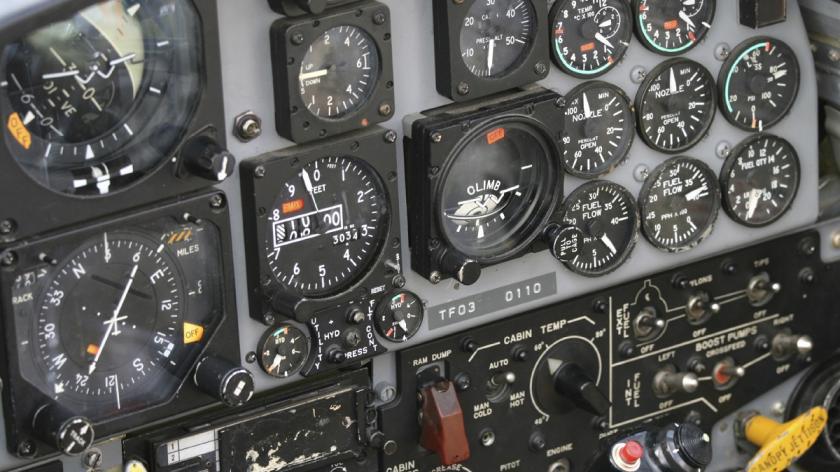Fighter pilot cockpit