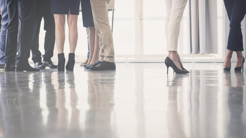 High heels in the office