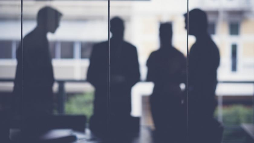 Silhouettes of business professionals