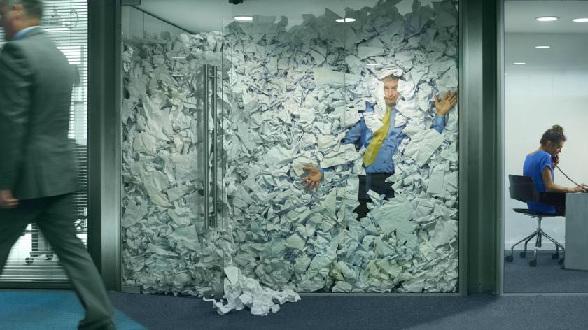 Office paperwork overload