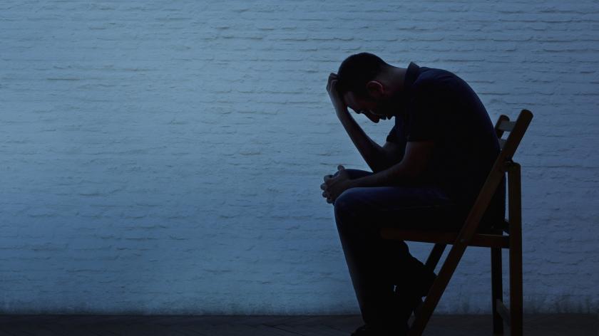 Depressed man