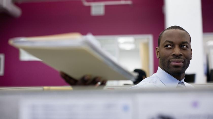 Man holding document