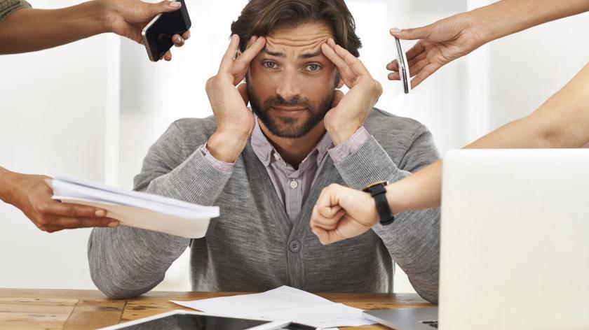Pressure on office worker