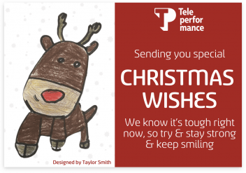 Christmas cards created by Teleperformance