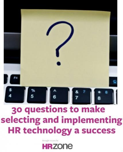 30 questions to great HR technology