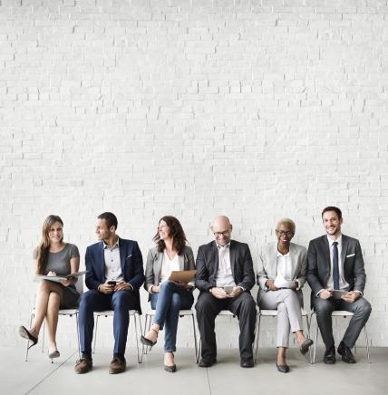employees sat talking